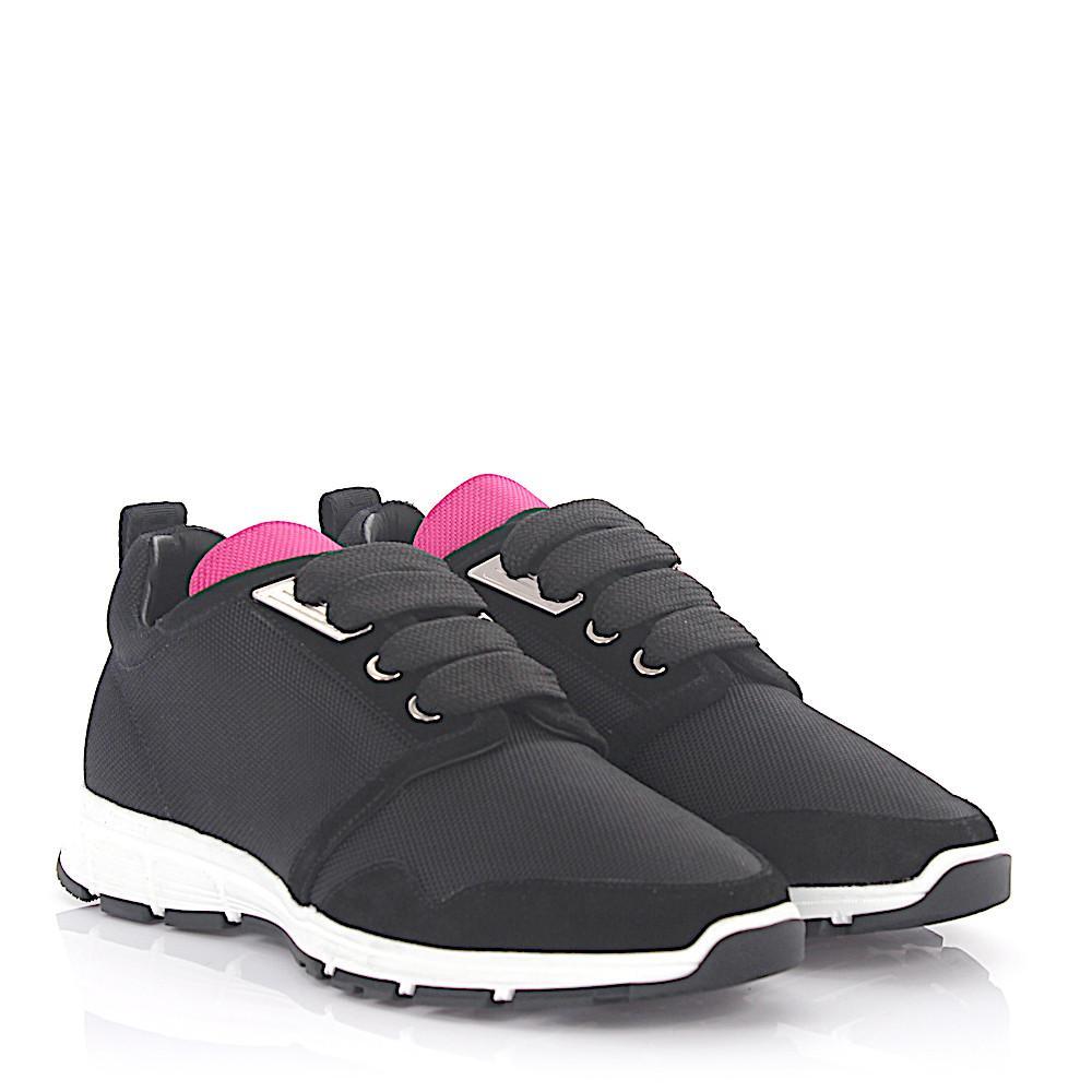 Chaussures De Sport Dsquared2 Marte Course High-tech Jersey Noir En Daim Rose Dsquared2 Noir oLRfhR