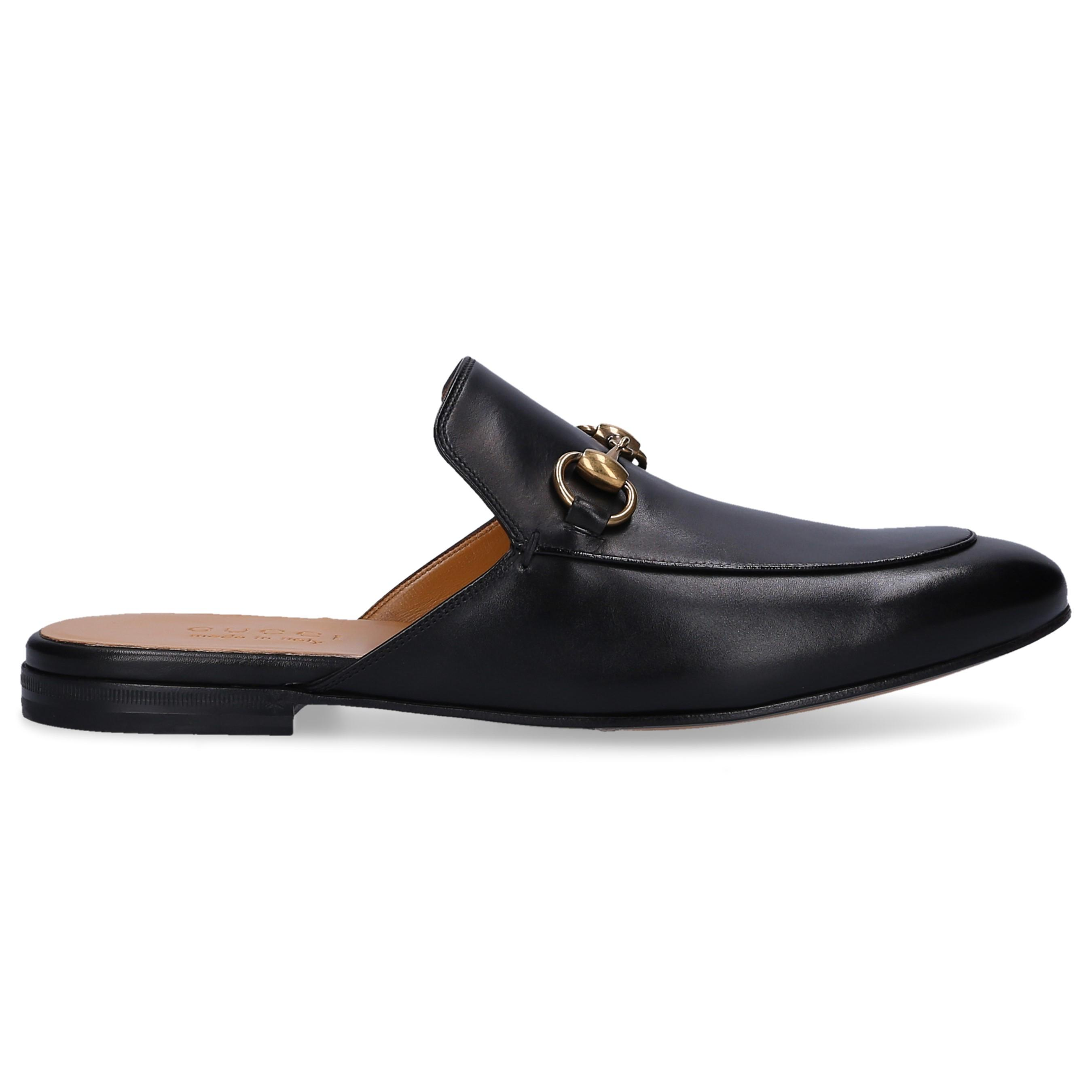 7abb5a4d6 Lyst - Gucci Leather Horsebit Slippers in Black for Men
