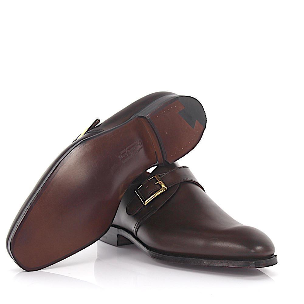 Crockett and Jones Simple-monk Savile Leather Brown for Men