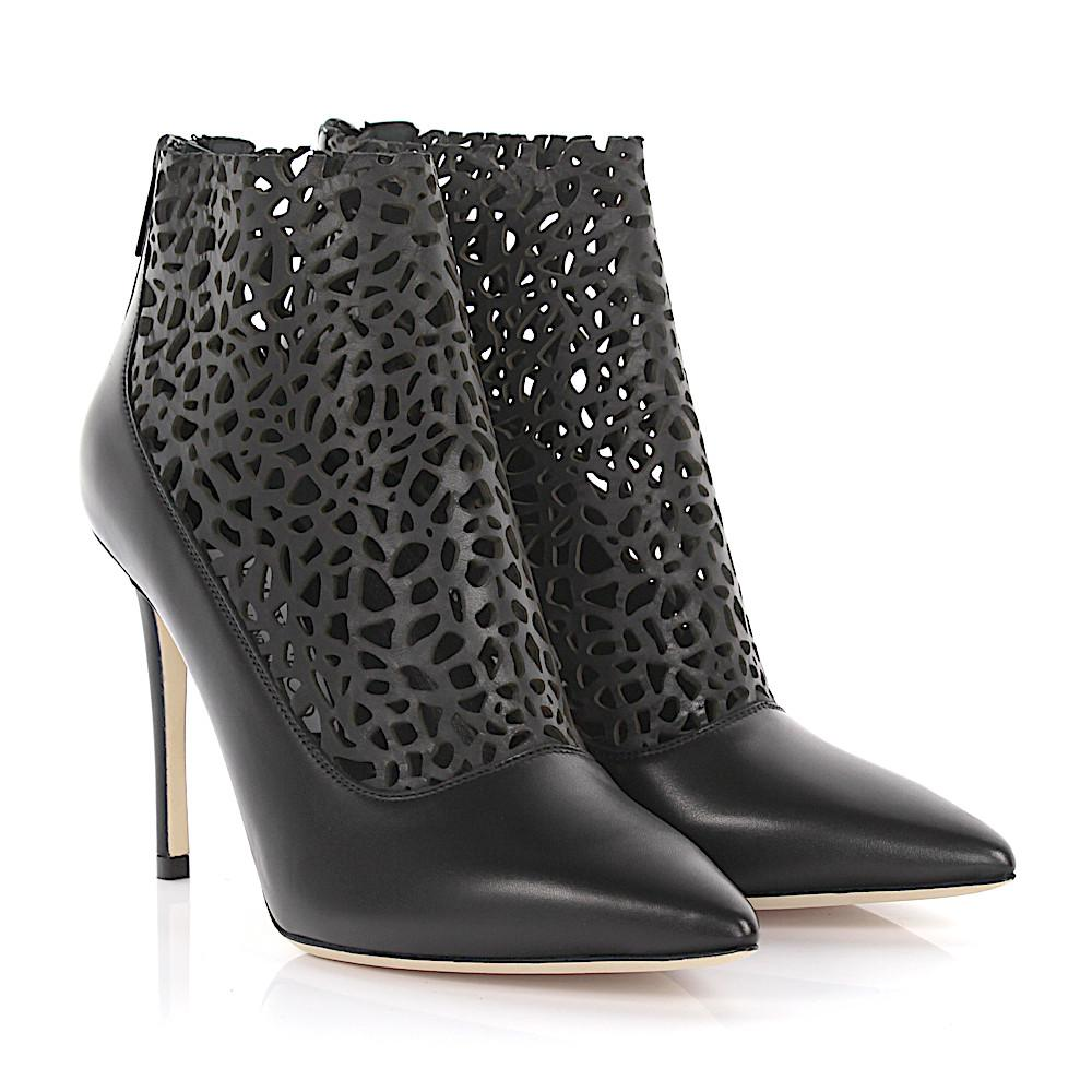 Jimmy choo Ankle Boots Maurice 100 leather design perforated JHQ7F85