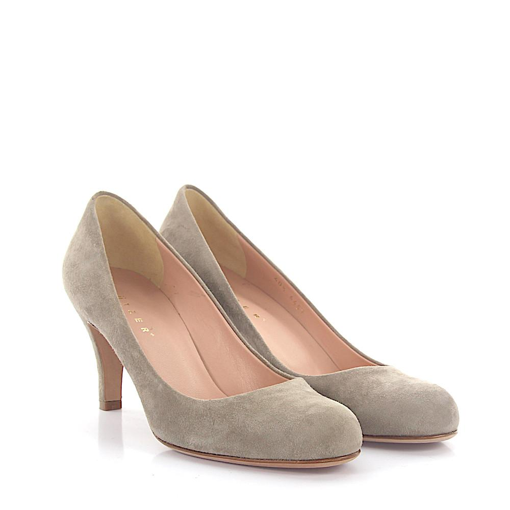 2b3bccb5bf8cb Women's Natural Court Shoes 6457 Suede Taupe