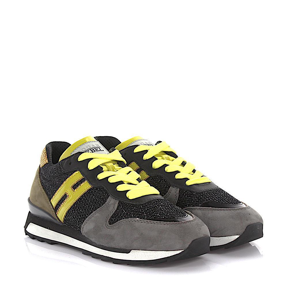 Hogan Rebel Sneaker Running R261 suede mesh lYWzinFevE