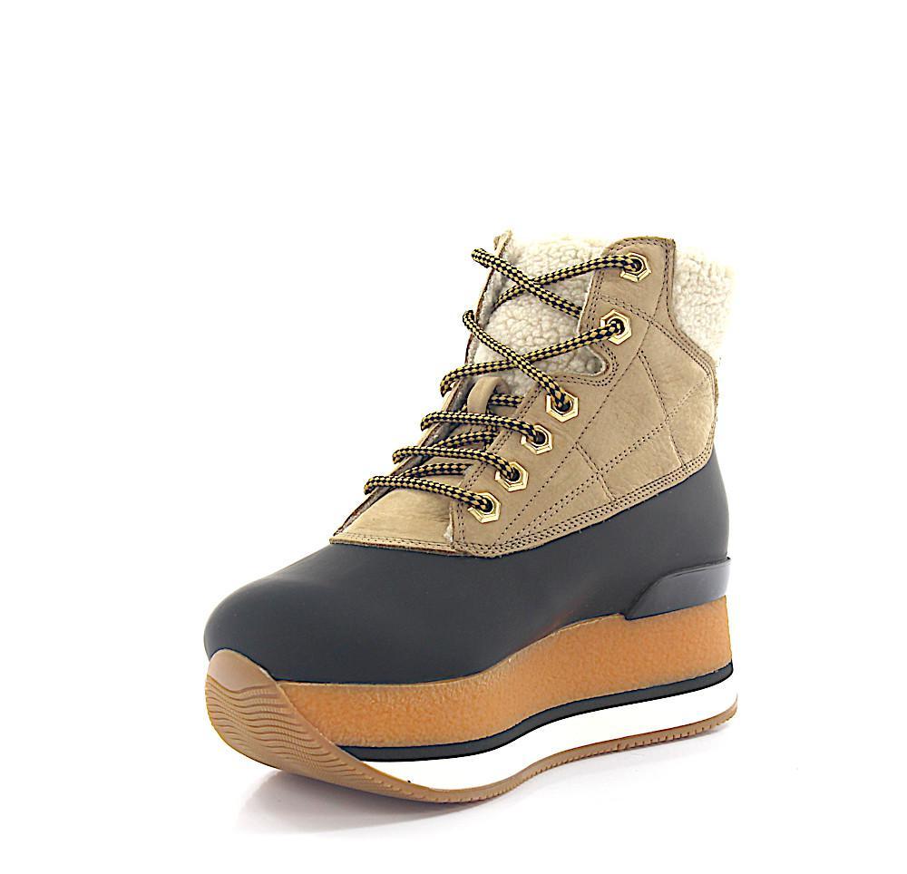 hogan stiefeletten boots h328 plateau gummi schwarz. Black Bedroom Furniture Sets. Home Design Ideas