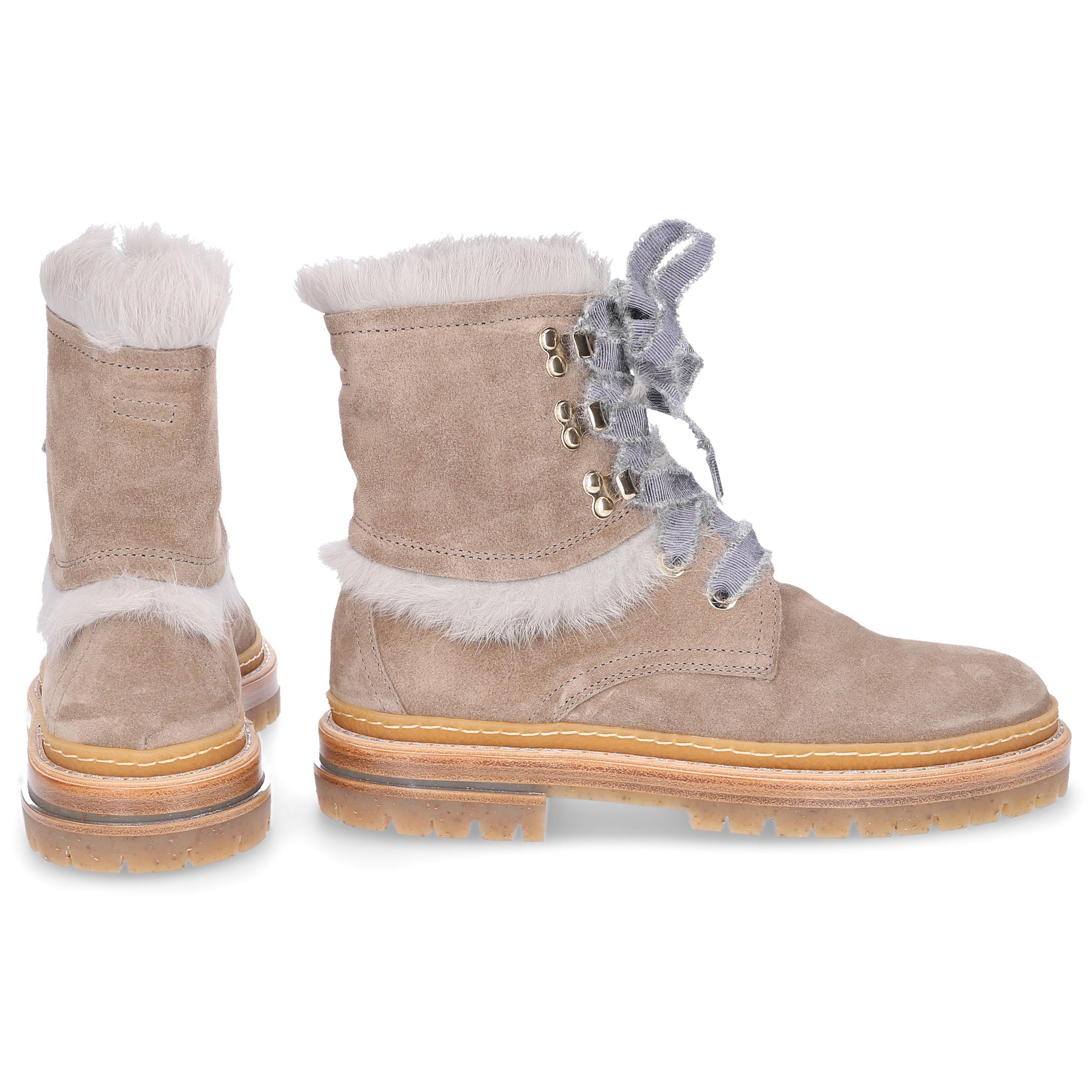 da1d6aedec5 Lyst - Agl Attilio Giusti Leombruni Ankle Boots D717576 Rabbit Fur ...