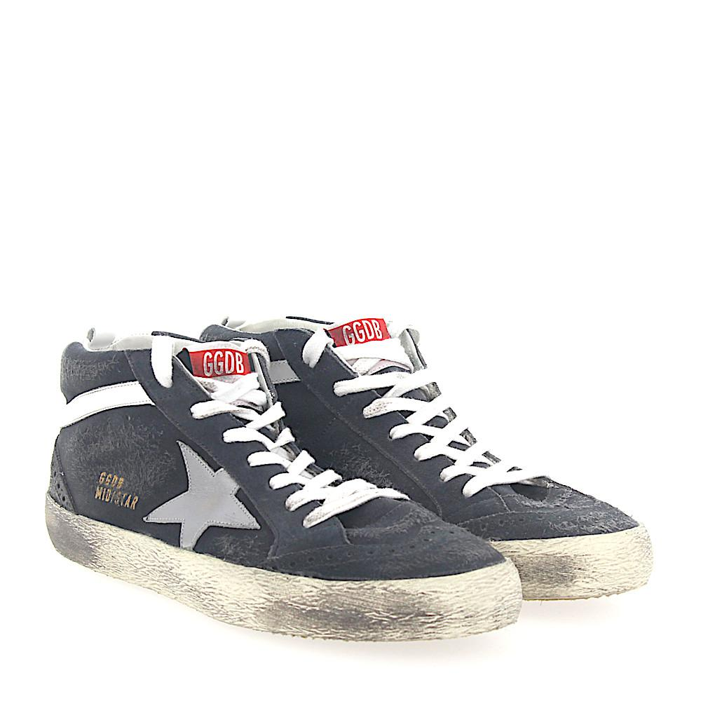 Golden GooseSneakers Mid Top G30MS suede Star-Patch leather silver 2ErEW