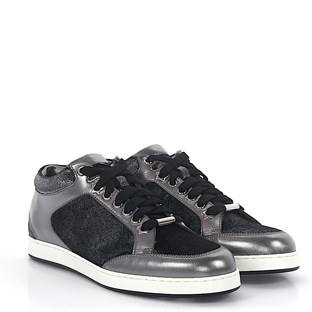 Jimmy choo Sneakers MIAMI nappa leather velvet anthracite