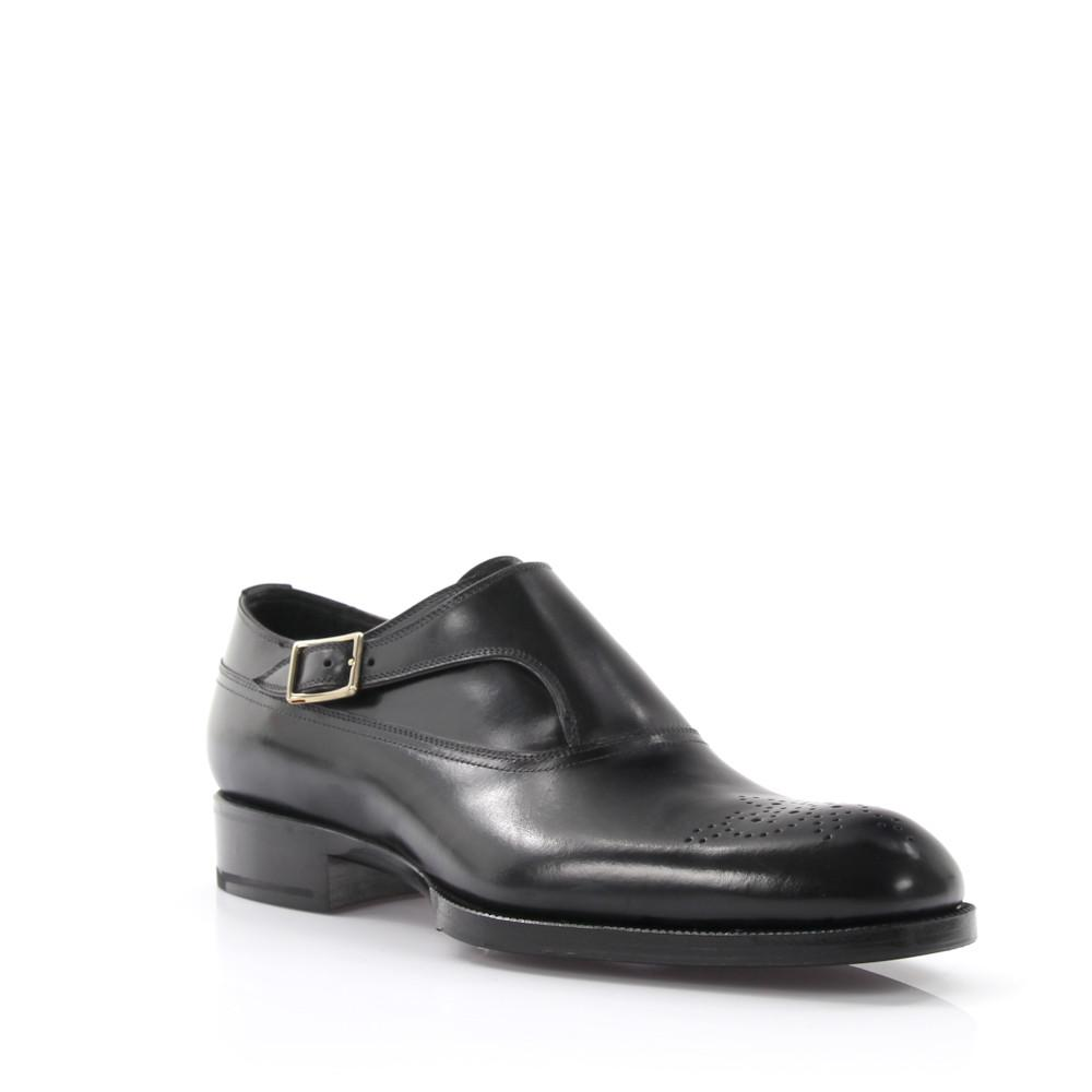 Tom Ford Single-Mong Strap leather rubber sole