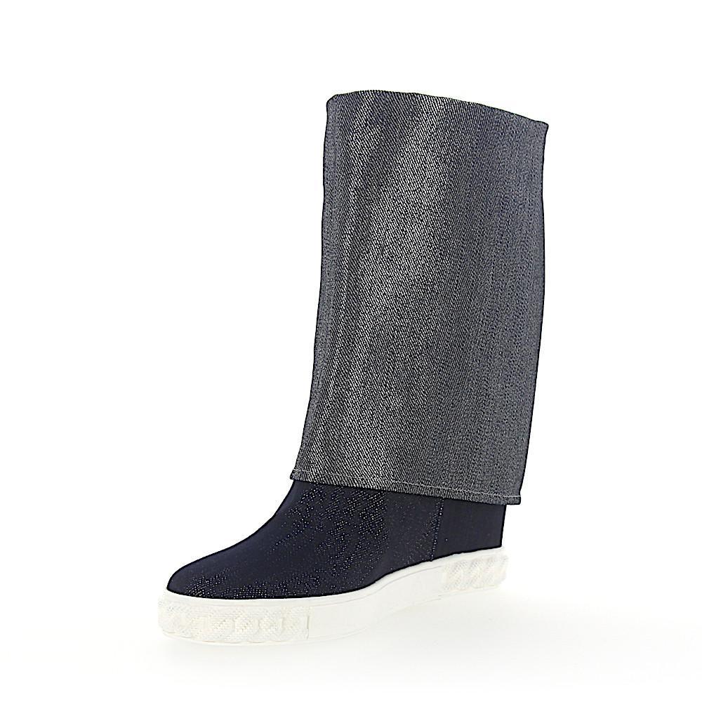 Casadei Keilsneaker DOUBLE FACE 2S847 Denim jeansblau silber 8j1rU