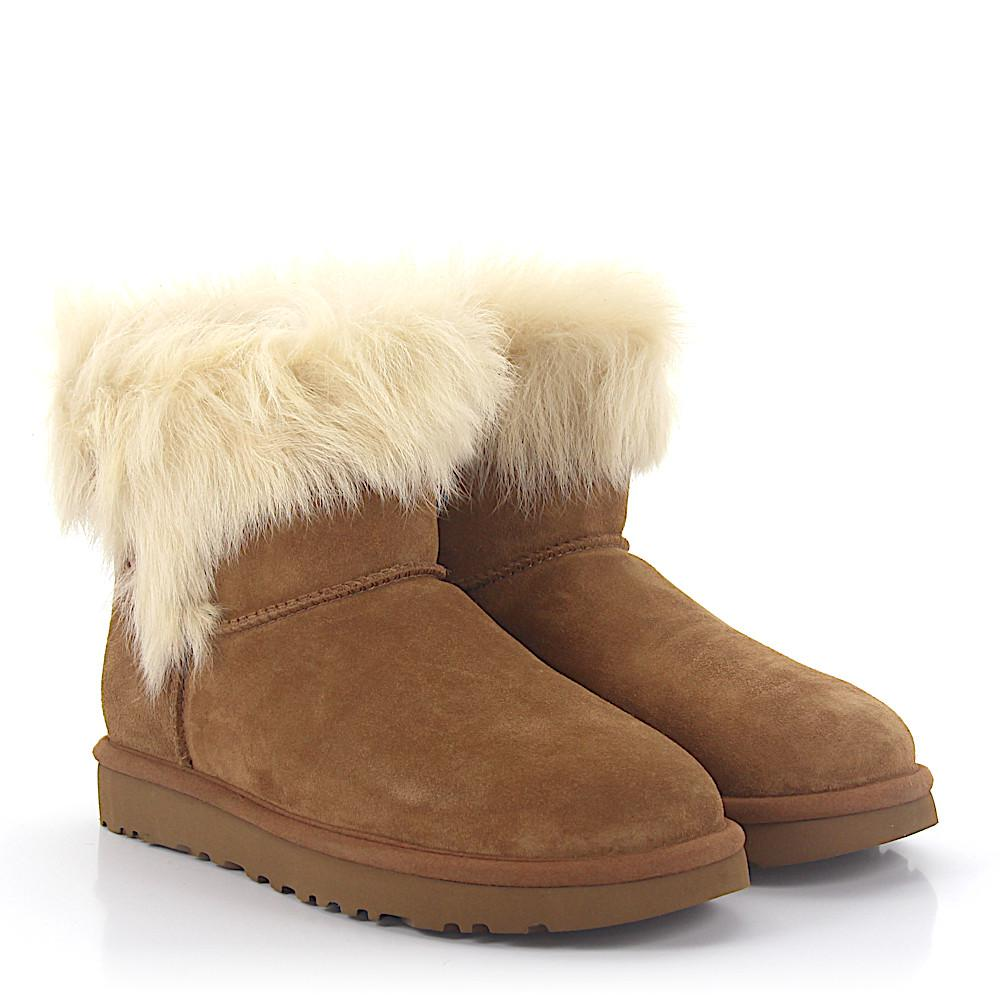 UGG Ankle Boots MILLA suede lamb fur 5J1AhSi