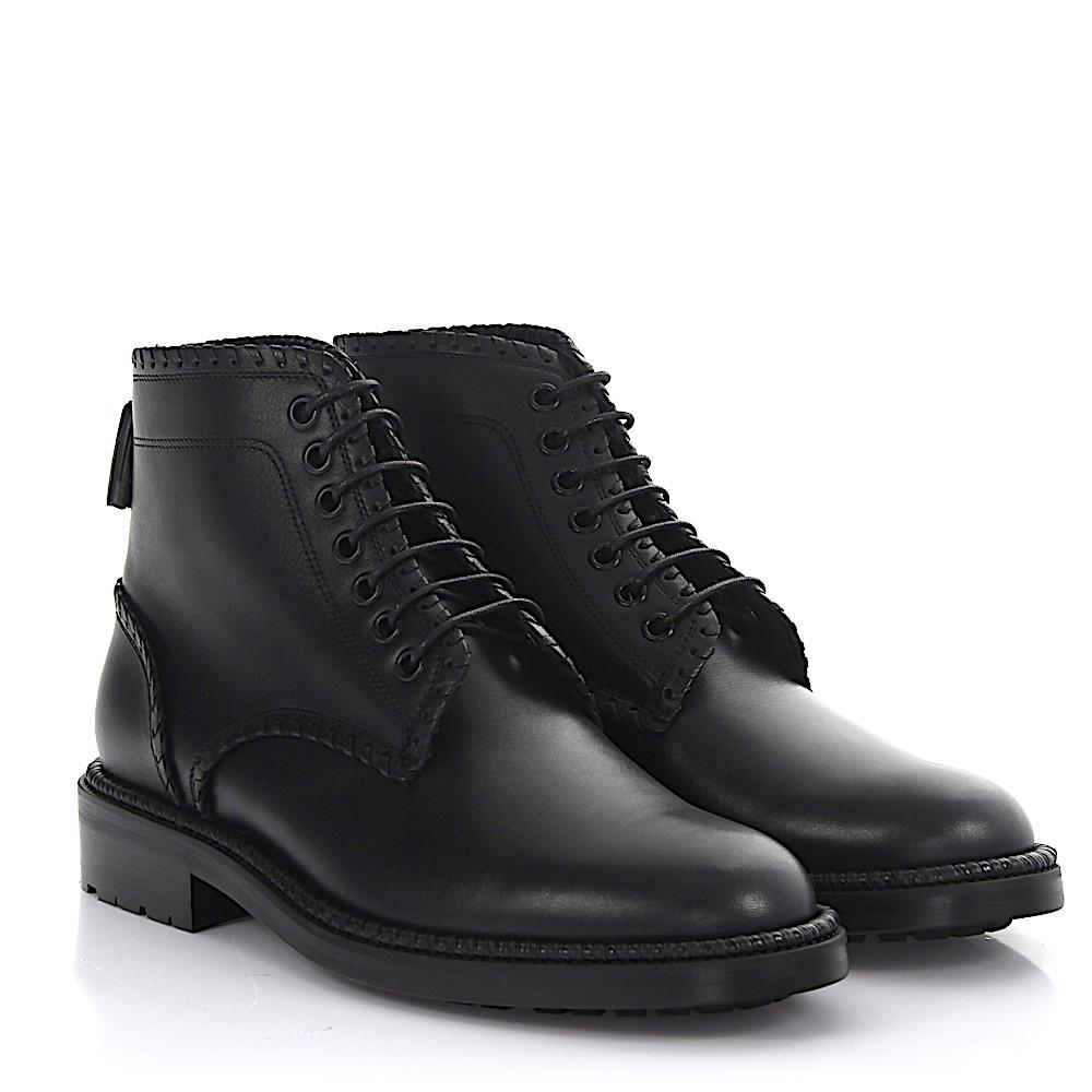 Saint Laurent Boots WILLIAM 20 leather braided bFmr2DhU