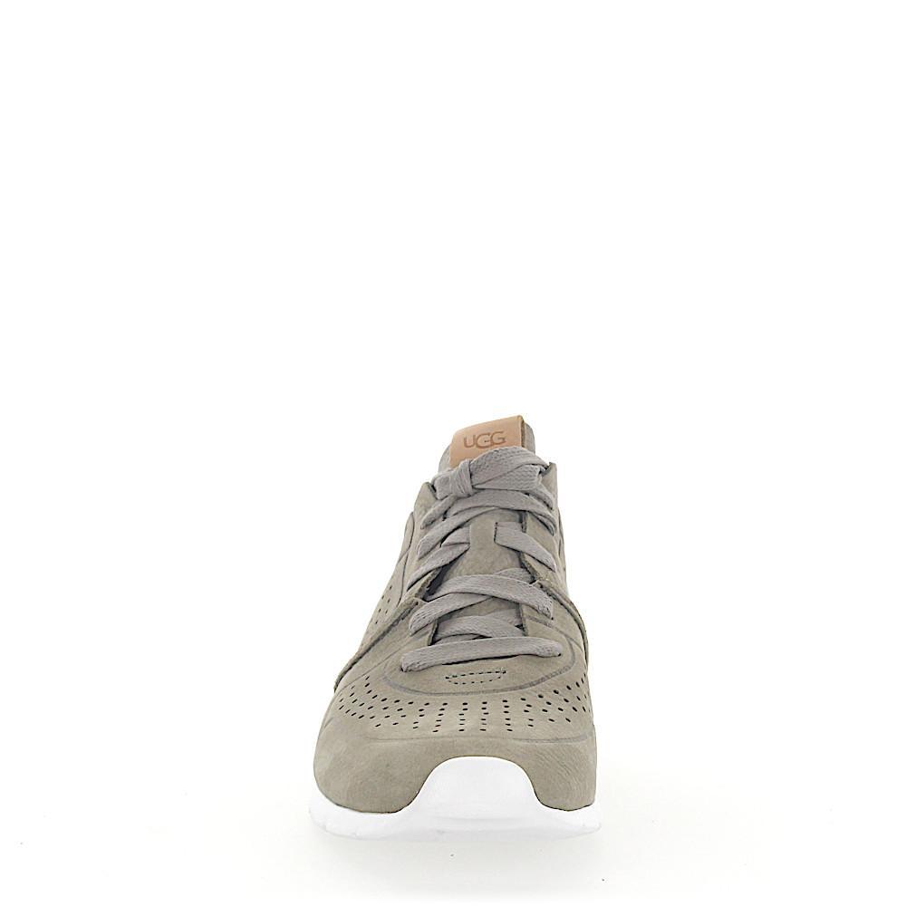 UGG Sneaker Tye Nubuck Hole Pattern Grey in Grey