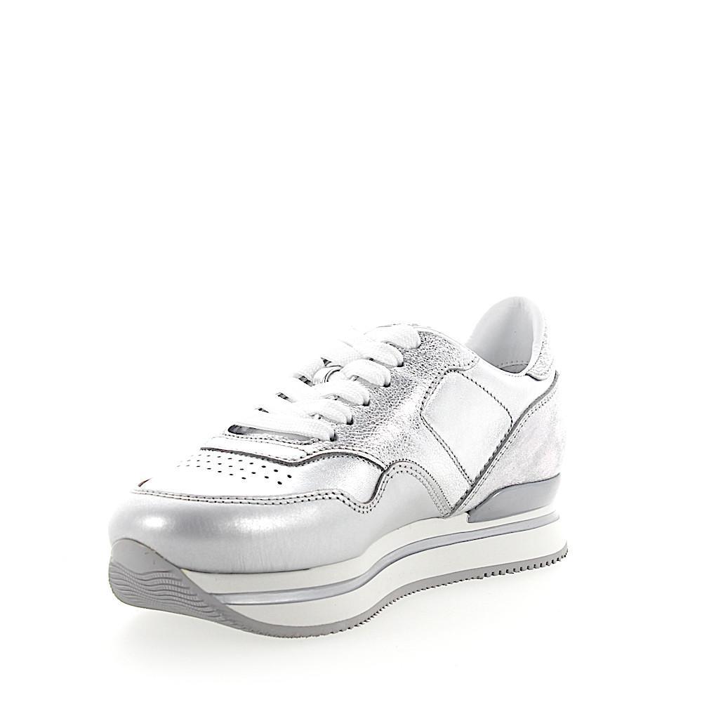 Sneakers H222 calfskin Metallic silver Hogan 78NMMWUq