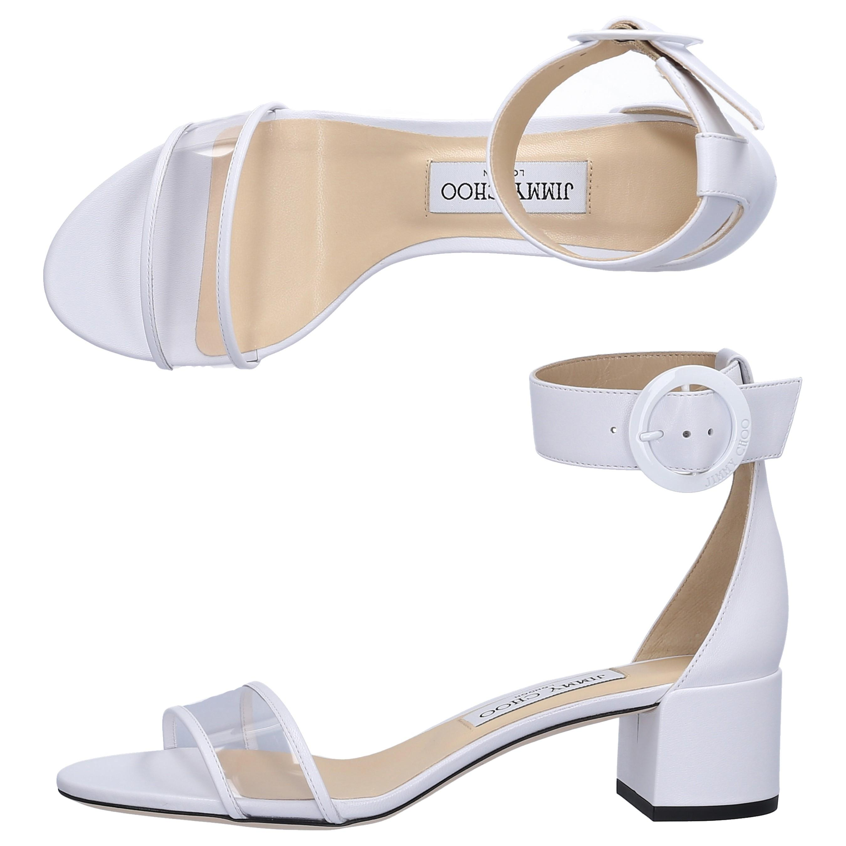 2dd7dcb8dc456 Women's Sandals Jaime Nappa Leather Pvc White
