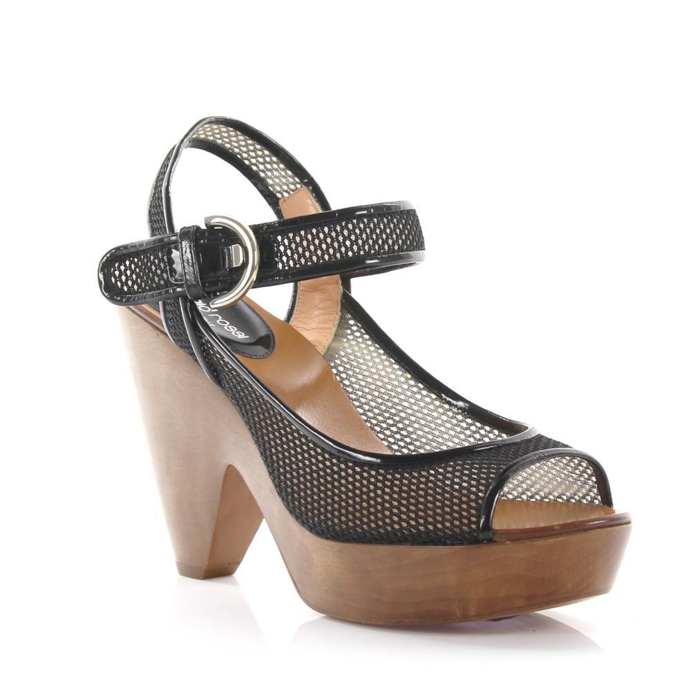 Sergio Rossi Platform Sandals ankle straps mesh 5Kv1KU