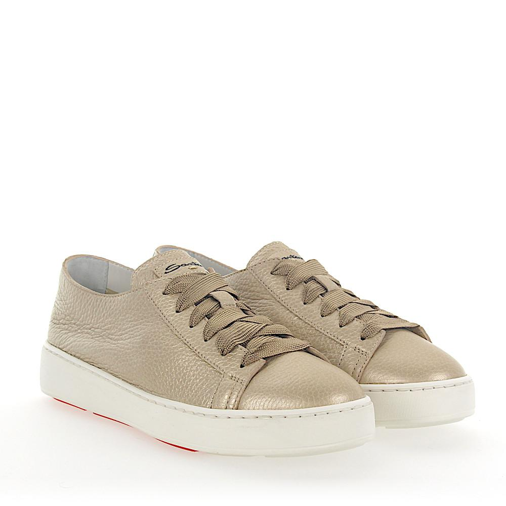 Sneakers 53853 leather gold Santoni DIbmL5WHdA