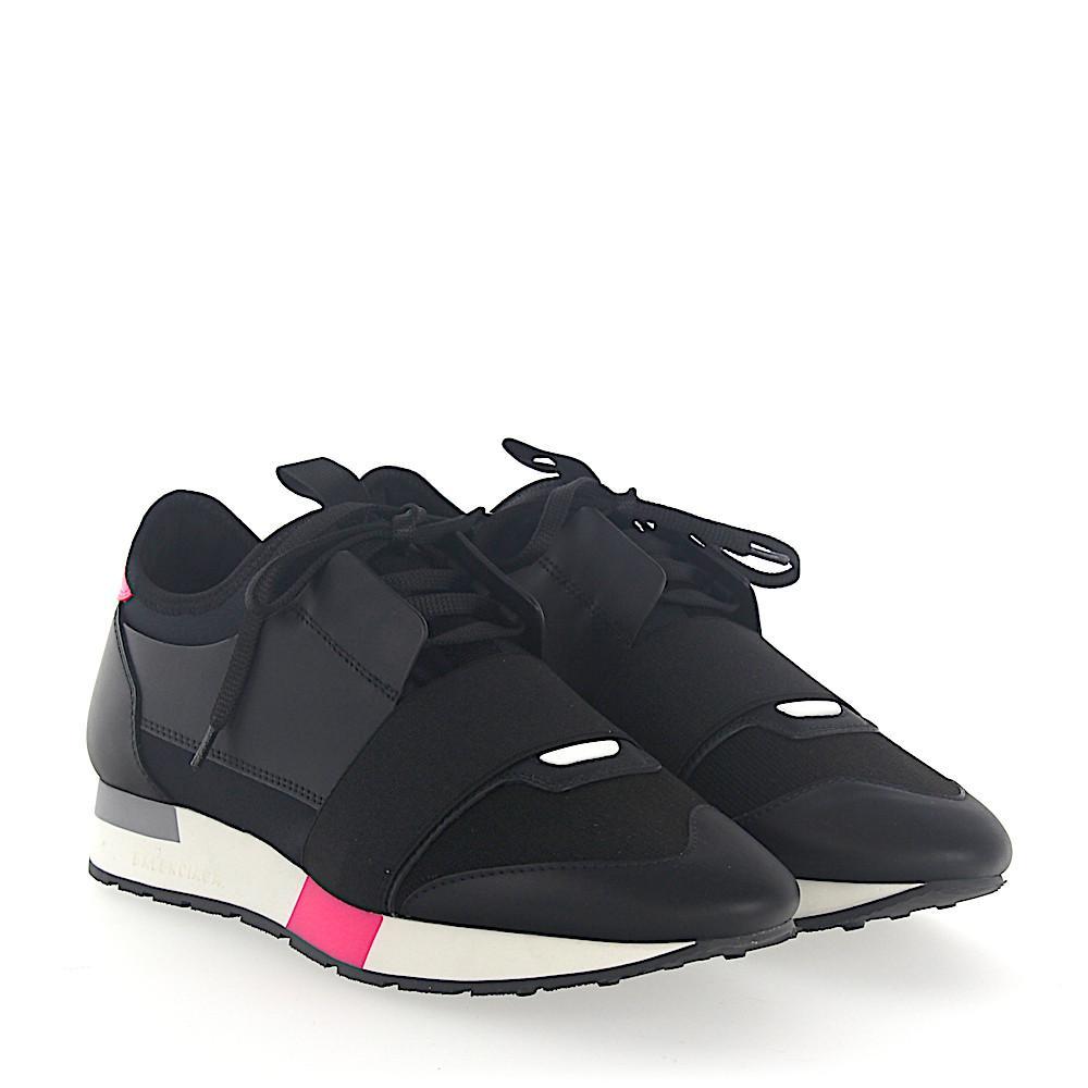 Balenciaga Leather Sneakers Race Runner