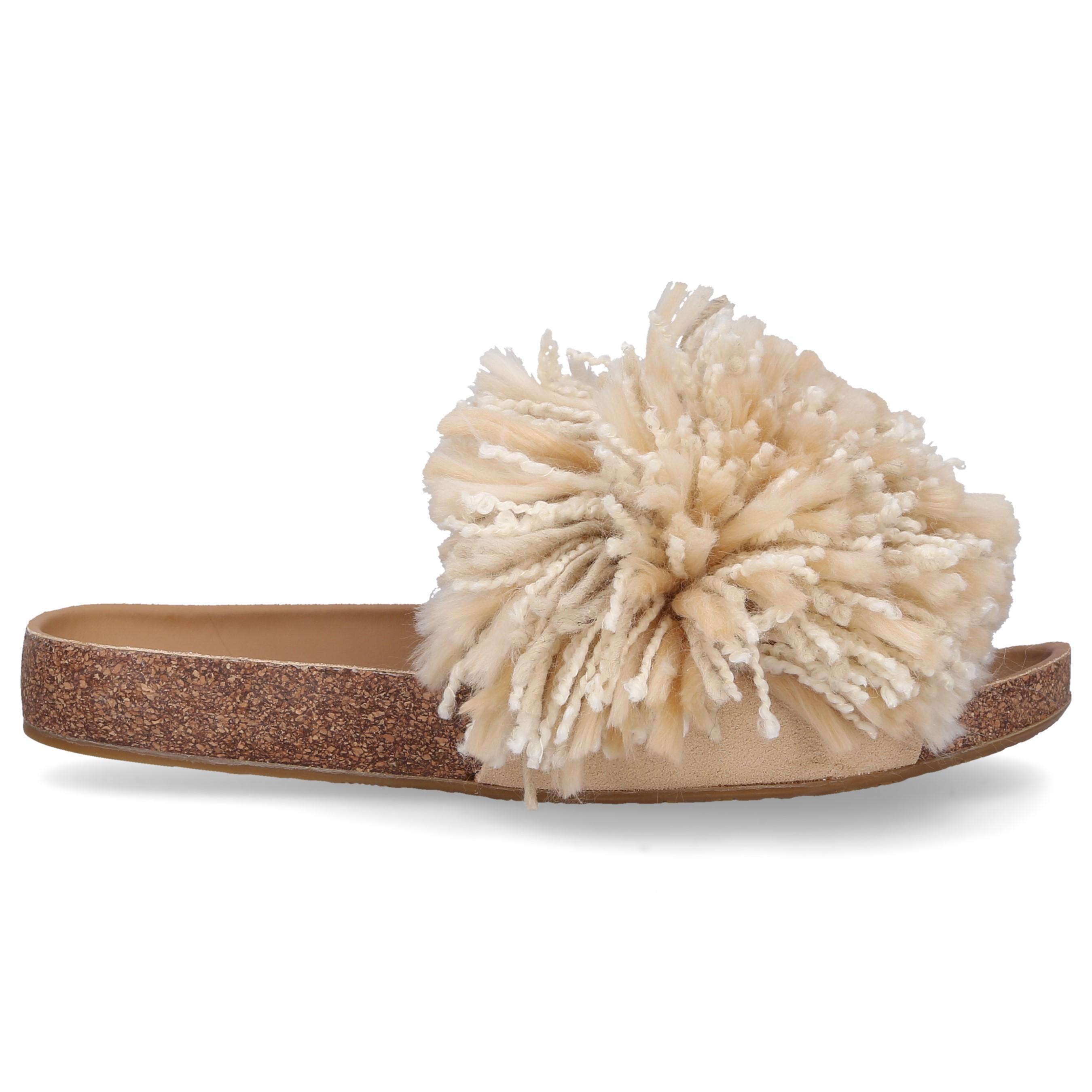 758d8db197a Women's Natural Sandalen Cindi Cotton Fringe Beige