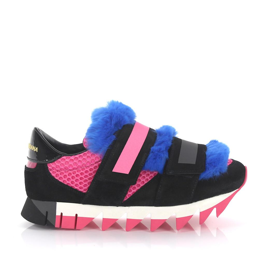 Dolce & Gabbana Leather Low-top Sneakers in Pink