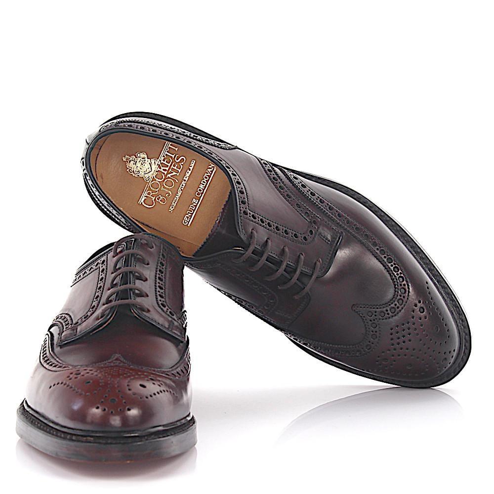 Crockett & Jones Derby budapester Pembroke leather cordovan bordeaux goodyear welted OvvjXVP