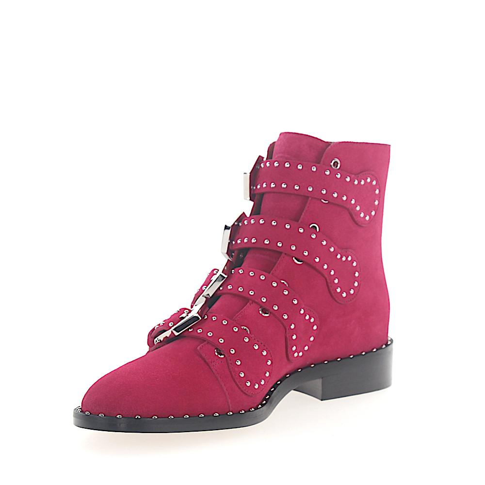 Givenchy Suede Cowboy-/ Biker Ankle Boots in Pink