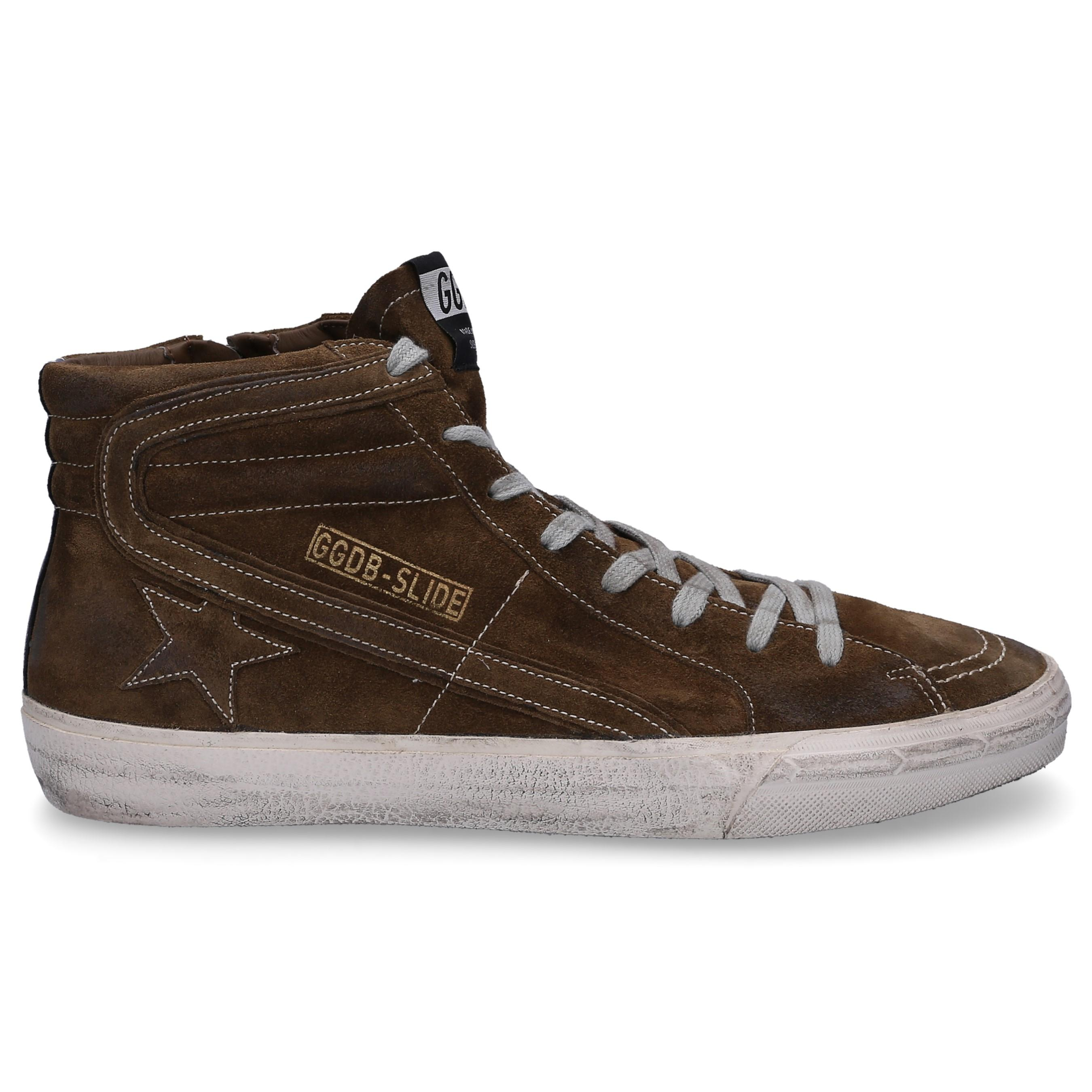 cb76e65639ed Lyst - Golden Goose Deluxe Brand High-top Sneakers Slide Suede Used ...