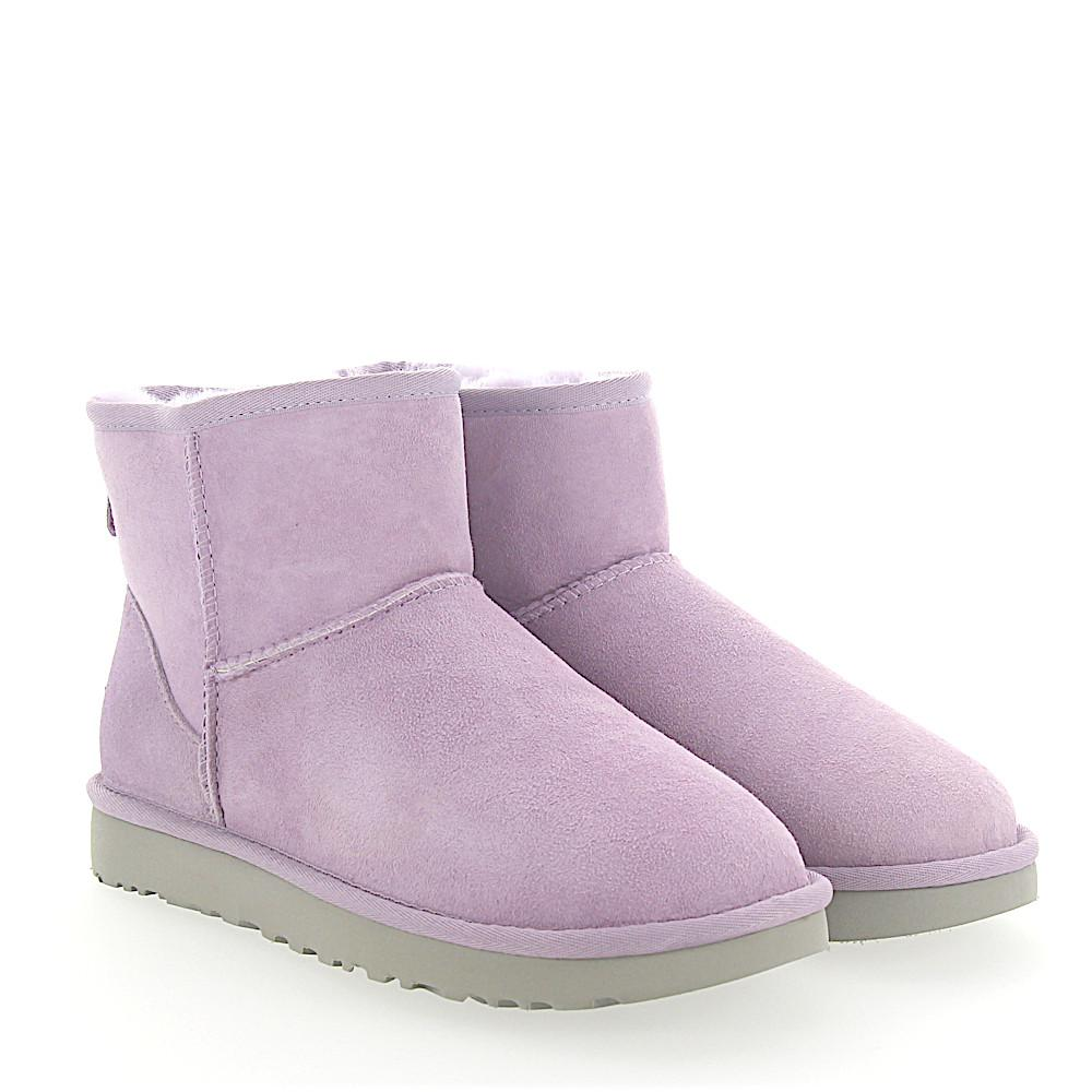 UGG Boots Classic Mini 2 suede lilac lamb fur yywlryi