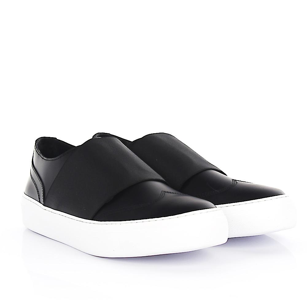 Sneaker Slip On Adam leather stretch stripe black Jimmy Choo London RcEP8LV