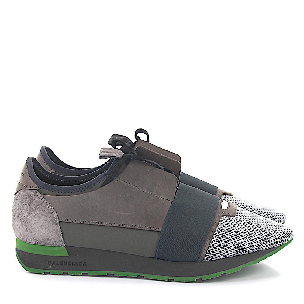 Balenciaga Sneakers Race Runner Leather Suede Grey Fabric ... | 1000 x 1000 jpeg 82kB