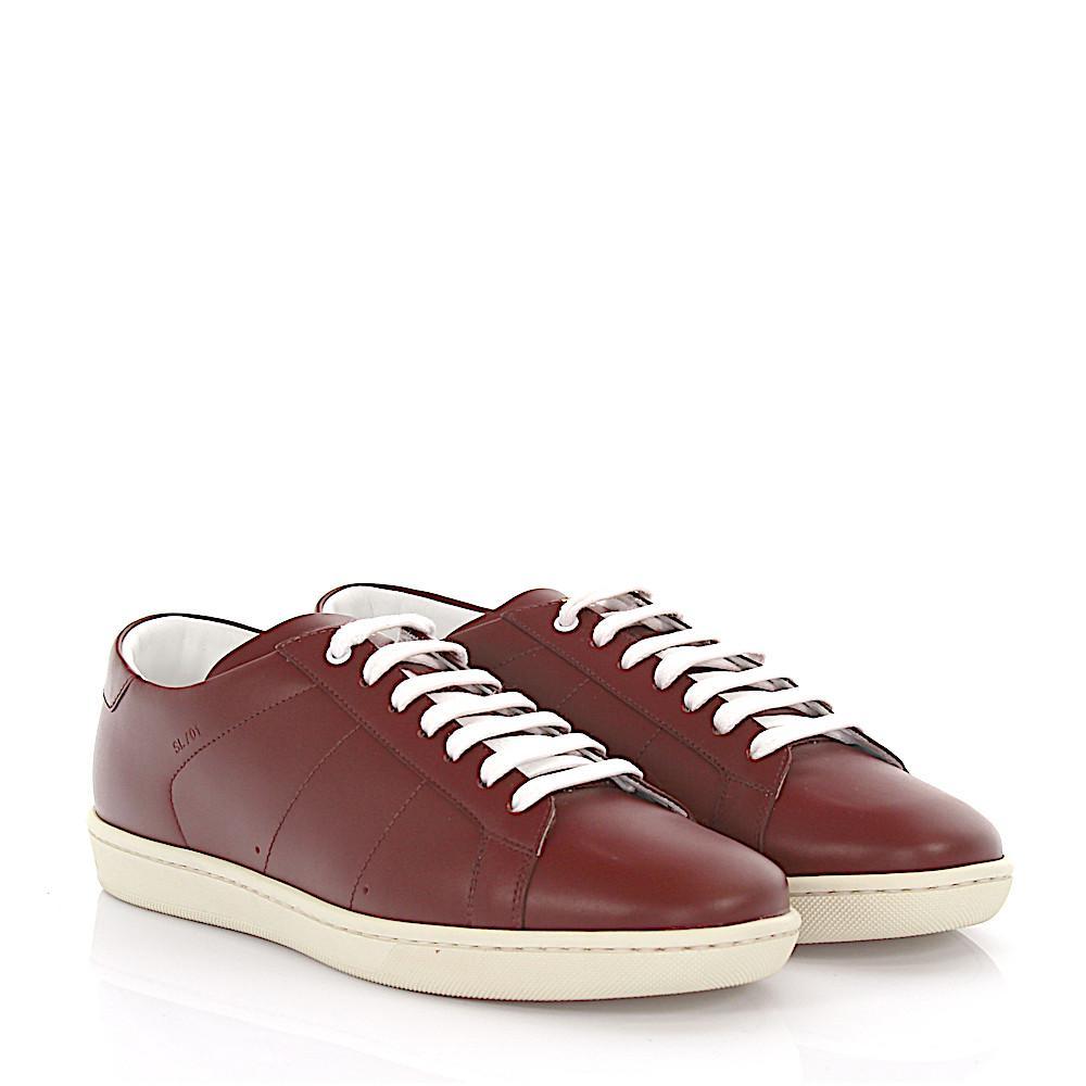 Sneakers leather claret Saint Laurent MlnX0O