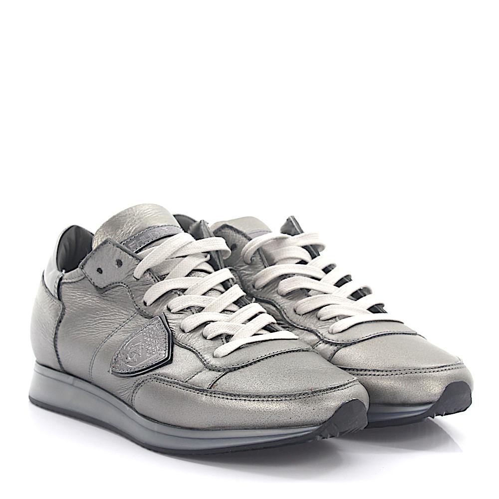 Philippe model Sneakers TROPEZ LOW leather glitter lambskin Clearance 2018 New WETVxkA4W