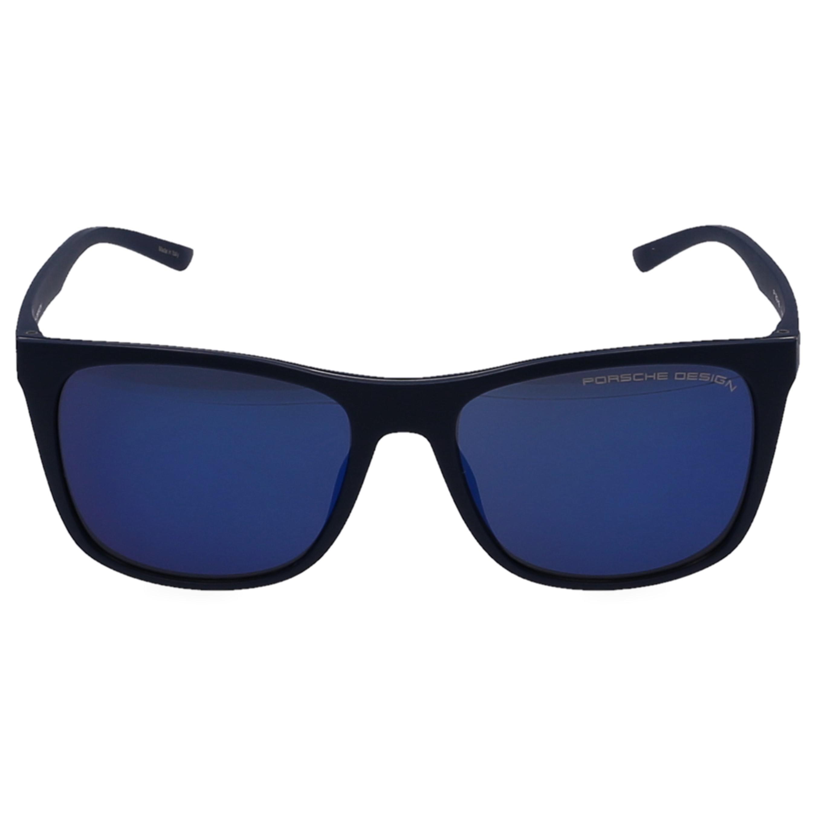 8625563f252 Lyst - Porsche Design Sunglasses Square 8648 Mirrored Acetate Blue ...