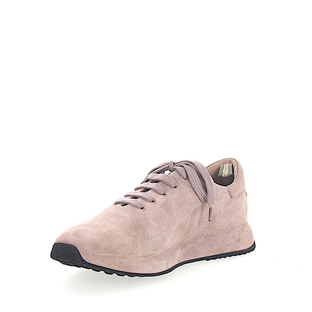 Officine Creative Leather Lace Up Shoes Calfskin Suede Logo Rose in Pink