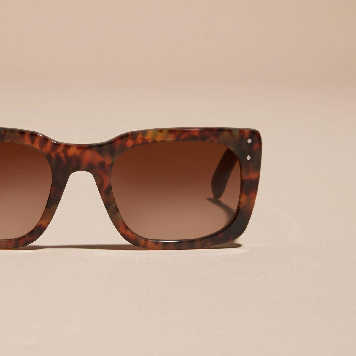 Burberry Square Frame Sunglasses in Tortoise Shell (Yellow) for Men