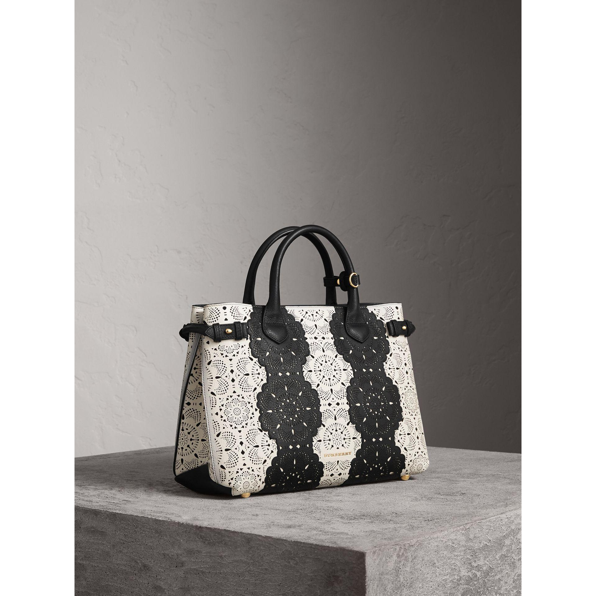 The Medium Banner Lace Leather Bag