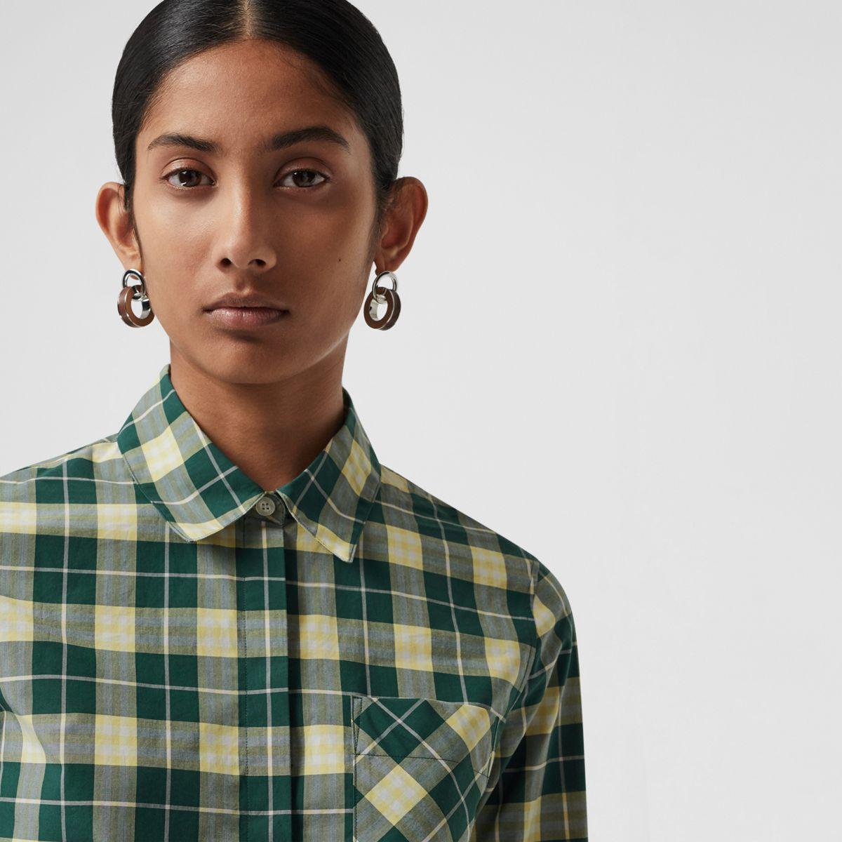 164c372c379ef5 Burberry - Green Check Cotton Shirt - Lyst. View fullscreen