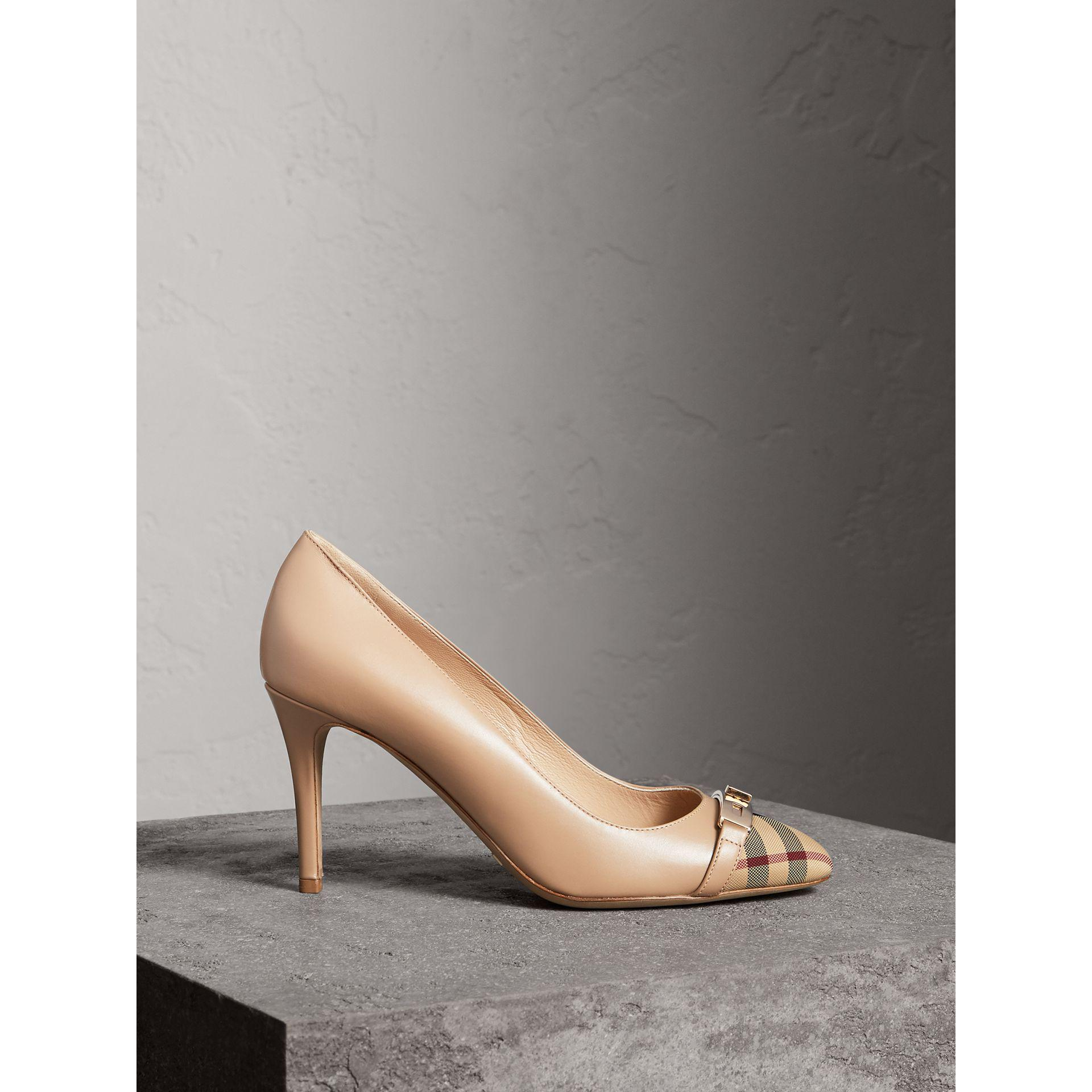 Burberry Horseferry Check Leather Pumps Lyst