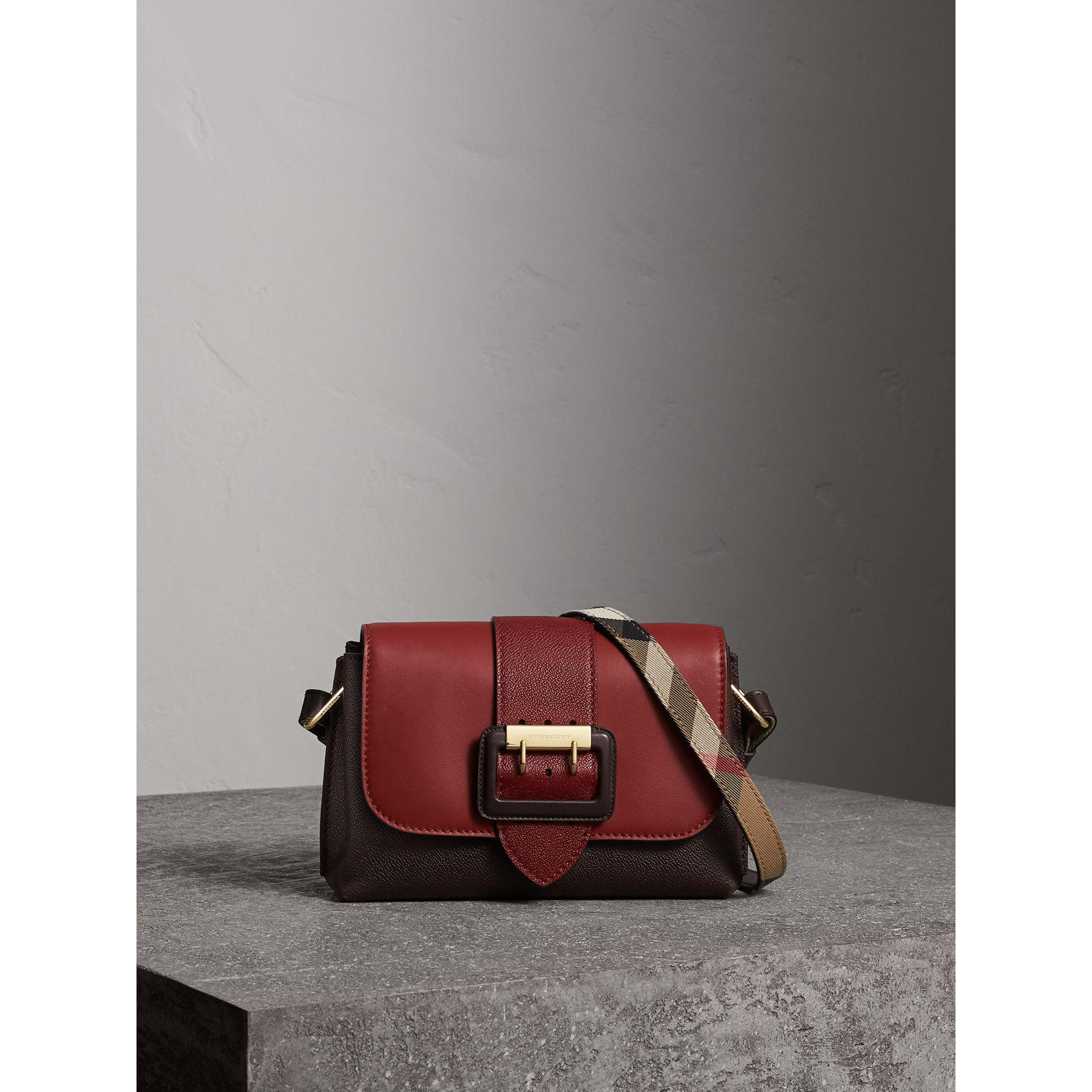 Burberry The Buckle Crossbody Bag In Colour-block Leather - Lyst 8561801f3c43d