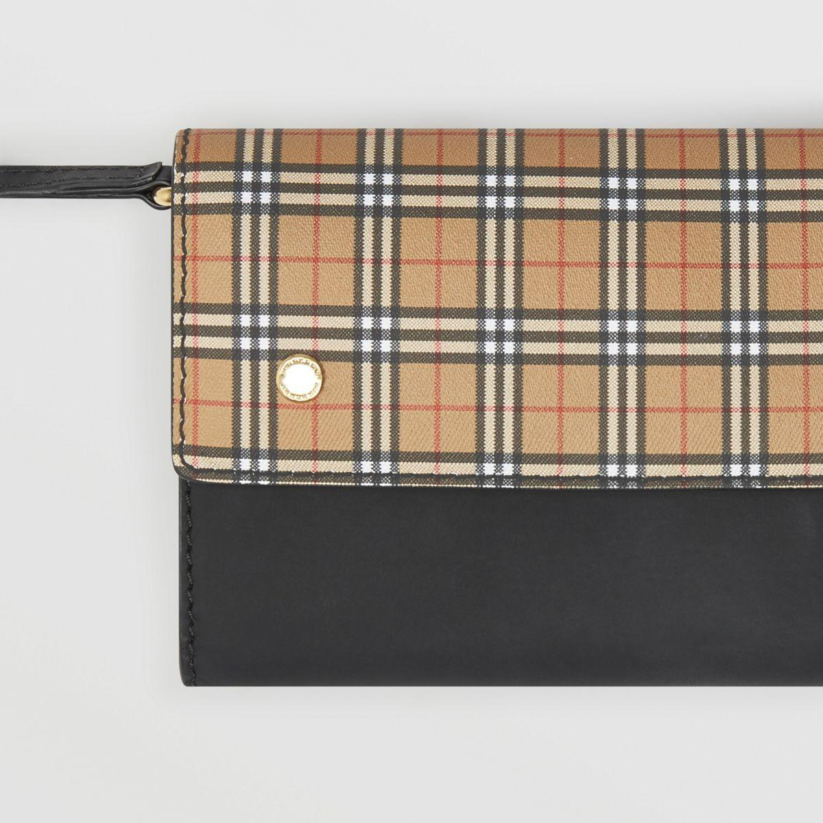 a4fa7d4a8e72 Burberry - Multicolor Small Scale Check Wallet With Detachable Strap -  Lyst. View fullscreen
