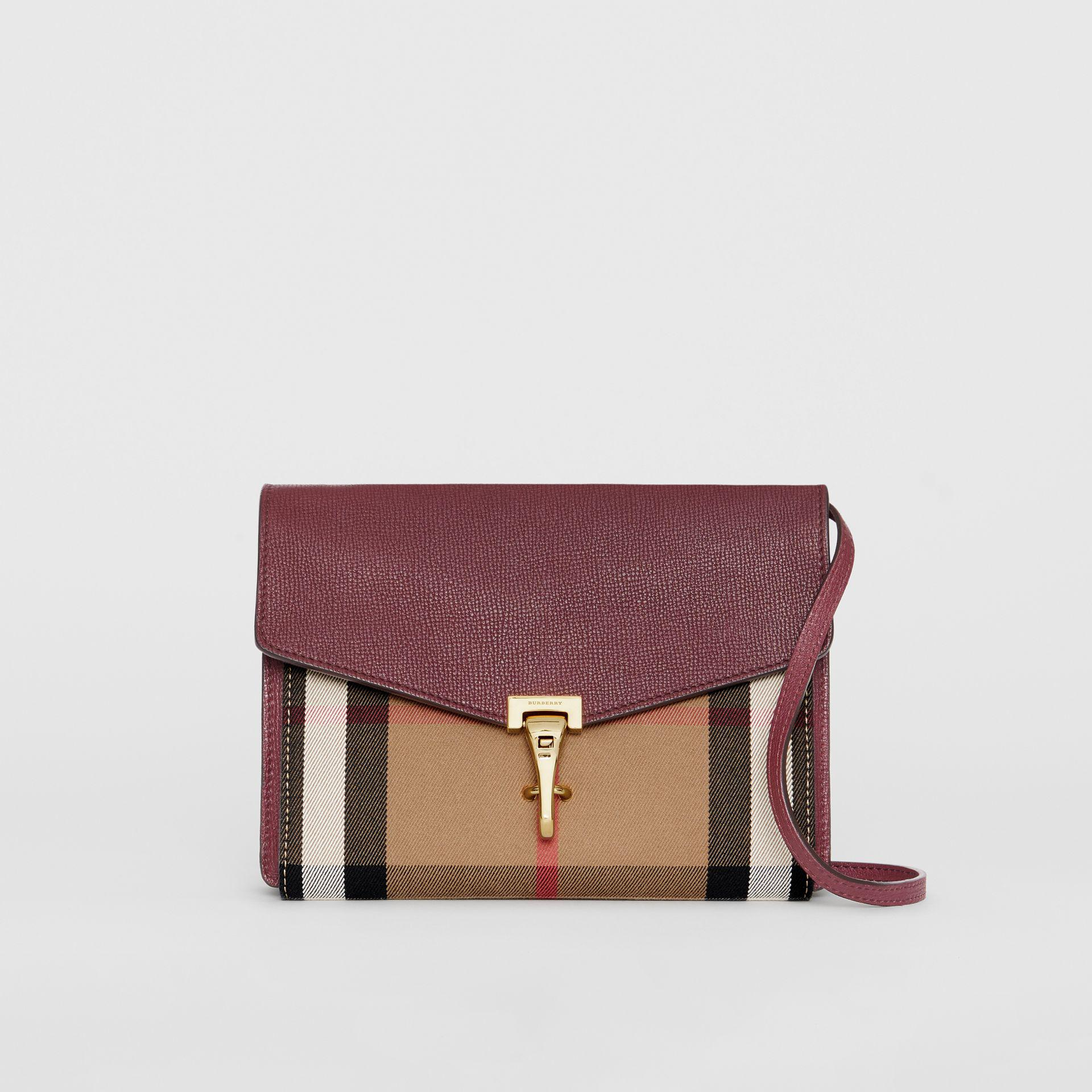 2e1b9874096a Burberry Small Leather And House Check Cross-Body Bag in Brown - Lyst