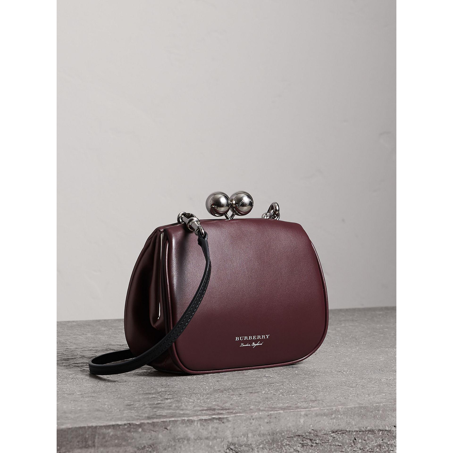 8252edb411ba Burberry - Multicolor Small Leather Frame Bag - Lyst