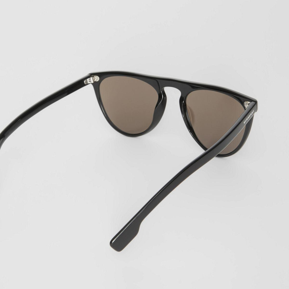 74675757598d Burberry - Black Keyhole D-shaped Sunglasses for Men - Lyst. View fullscreen