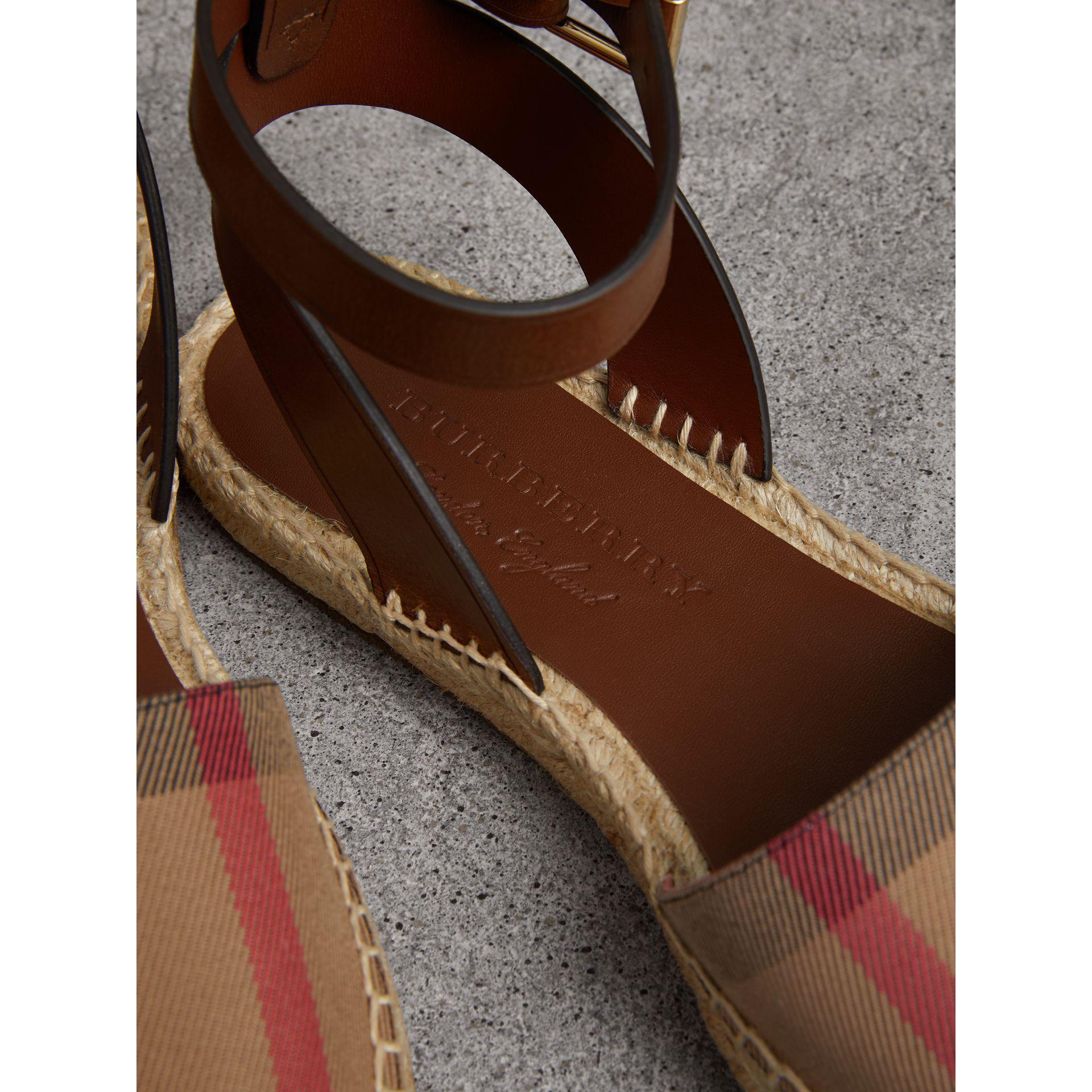 Espadrille Sandals in Dark Tan