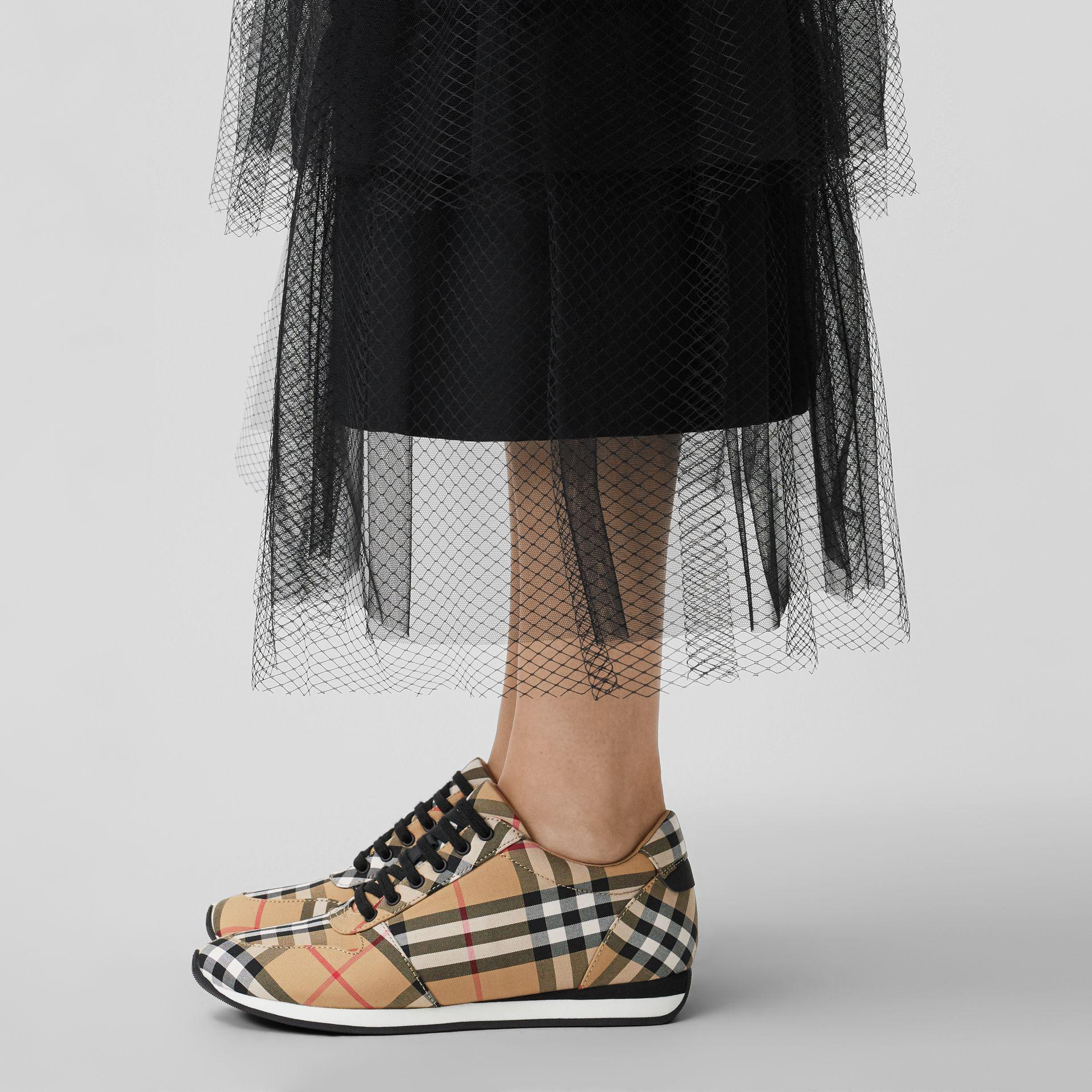 Burberry Vintage Check Cotton Sneakers