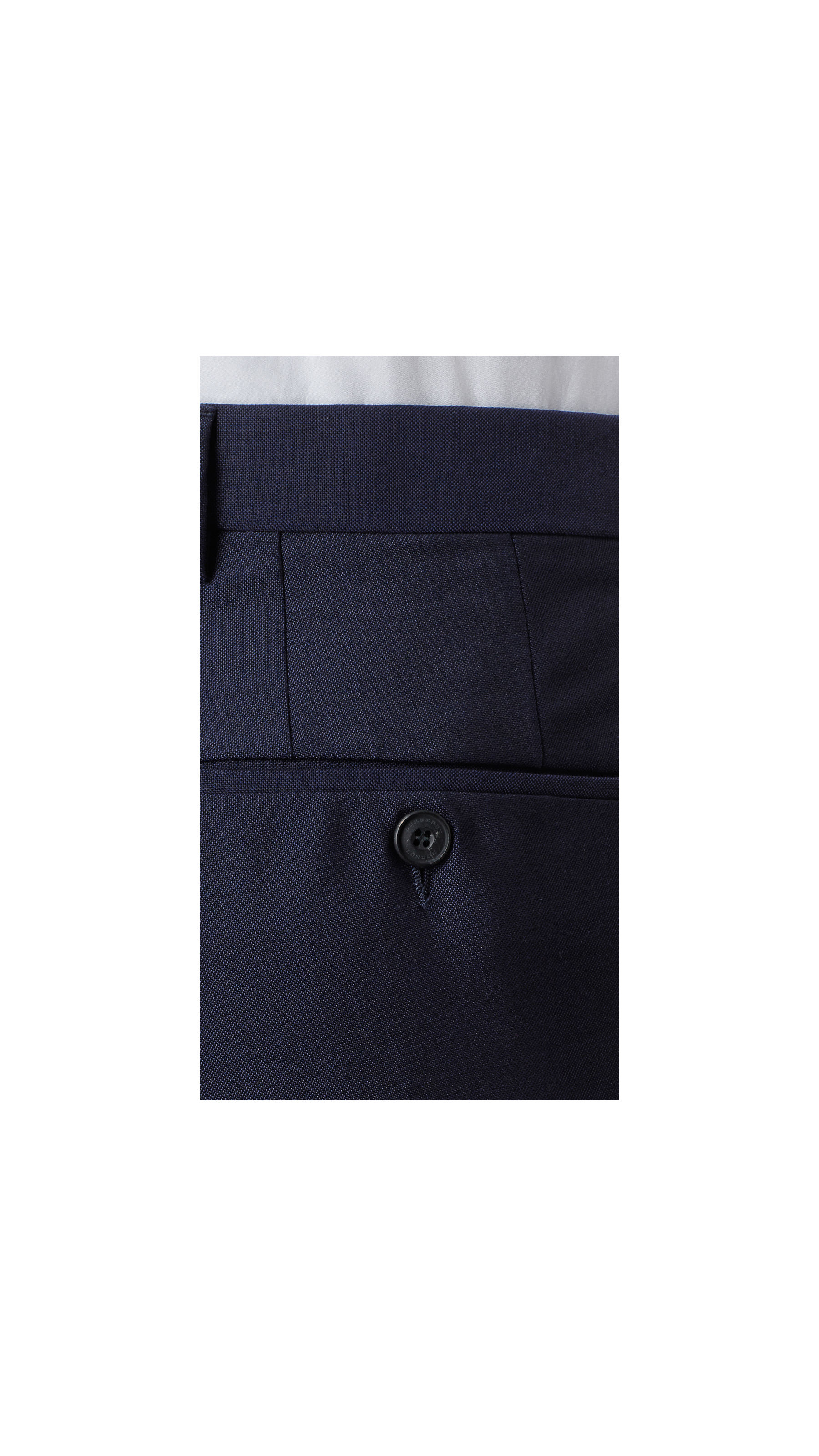 Burberry Modern Fit Wool Mohair Trousers Royal Navy in Blue for Men