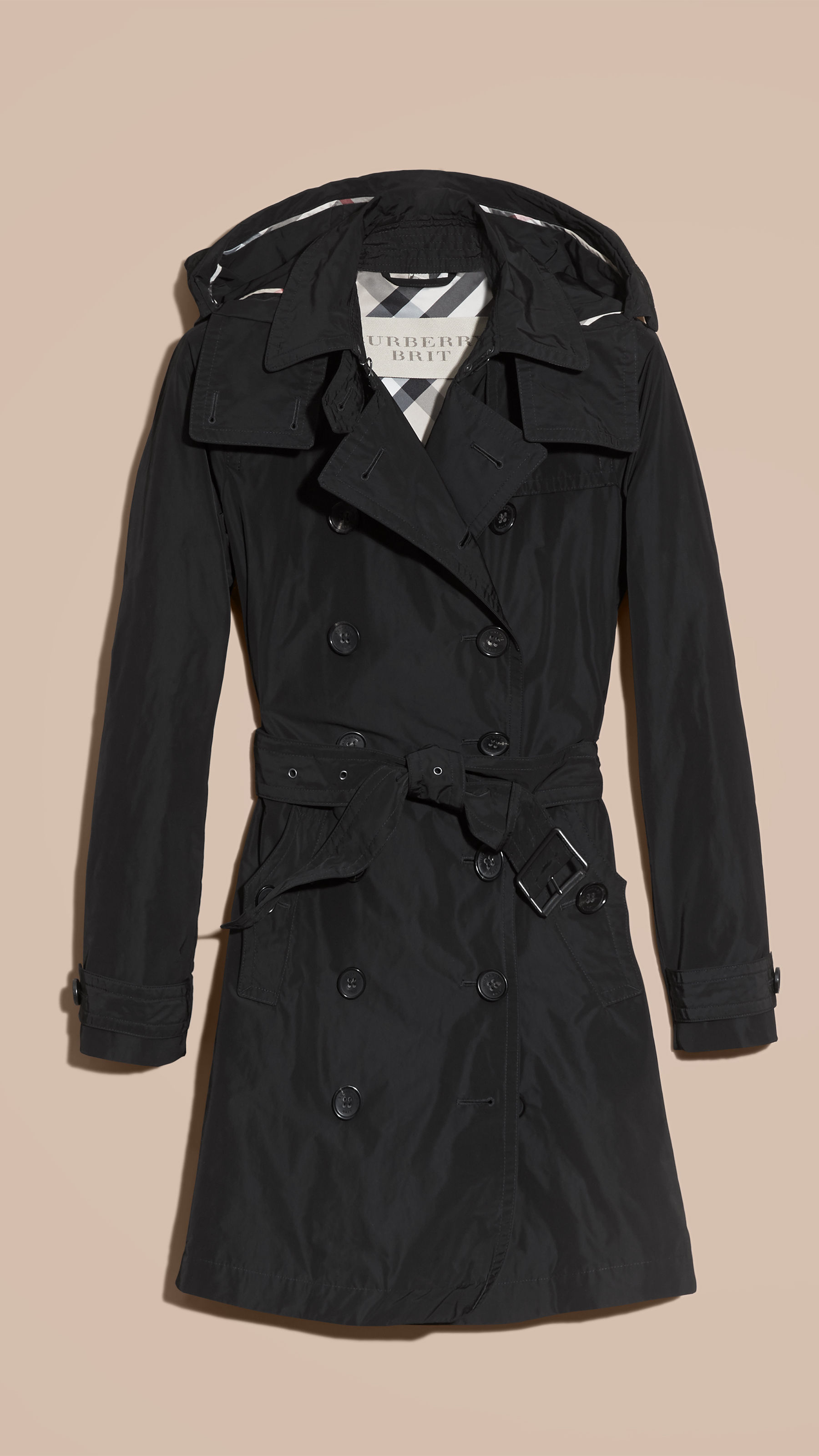 black trench coat with hood - photo #4