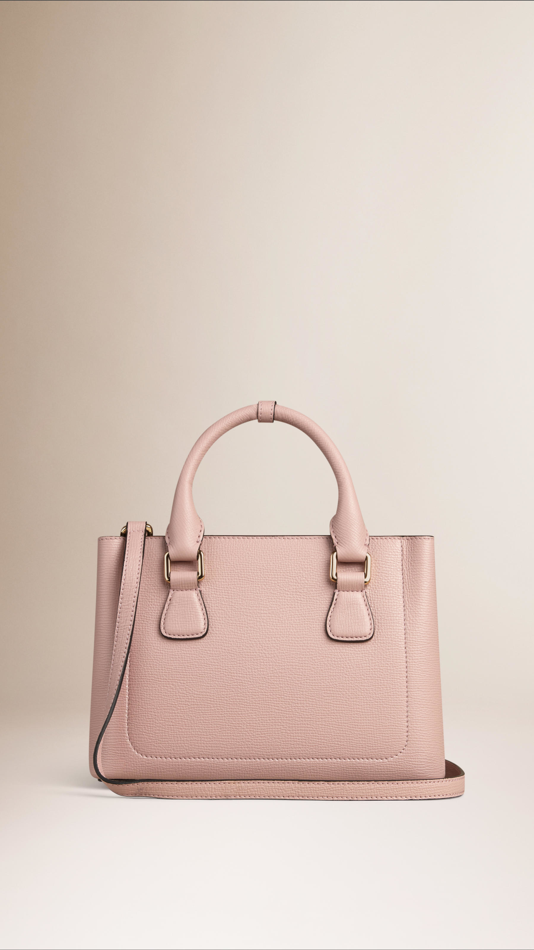 cfe732dd7585 Burberry The Small Saddle Bag In Grainy Bonded Leather Pale Orchid ...
