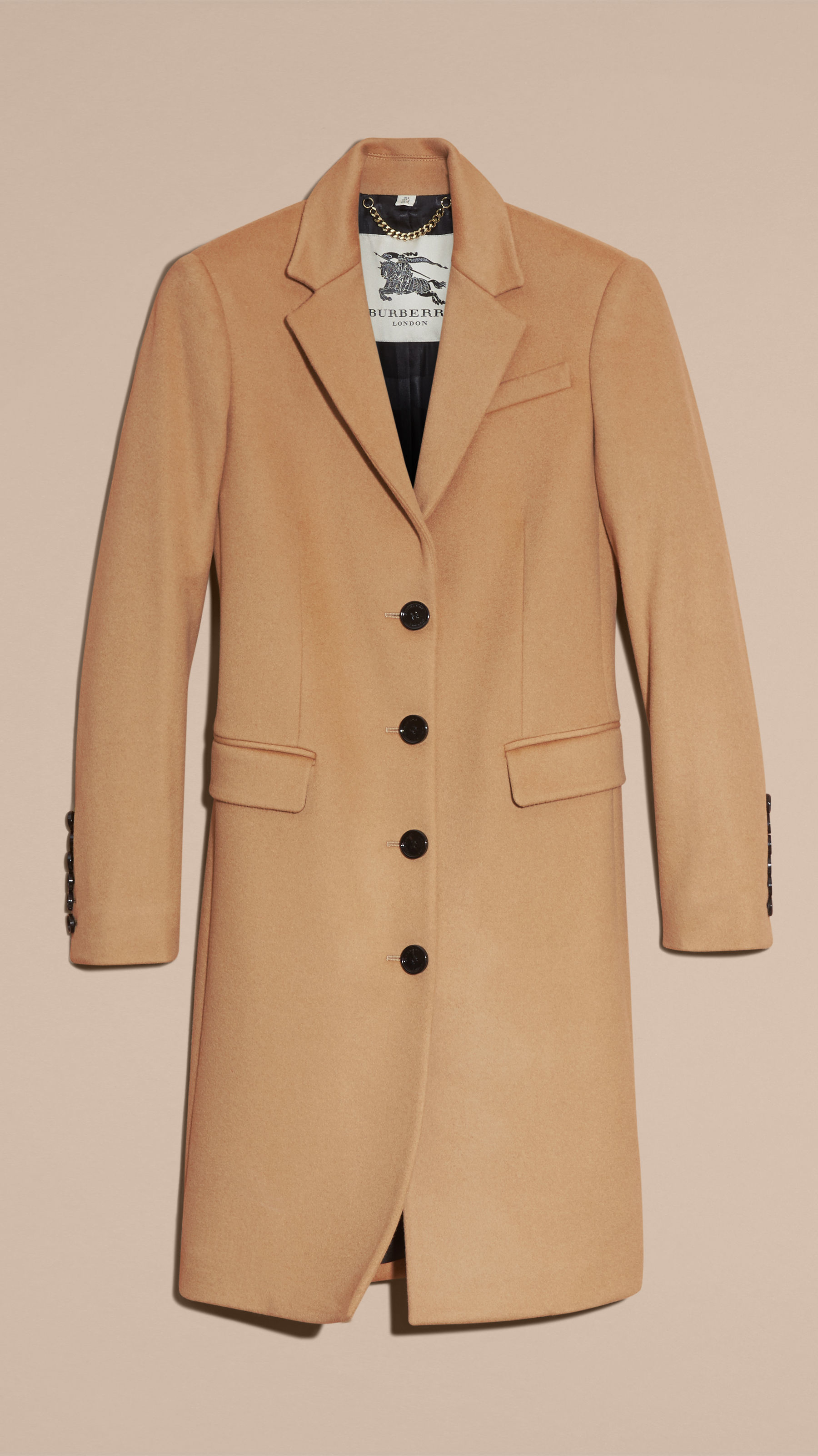 Burberry Tailored Wool Cashmere Coat Camel in Natural