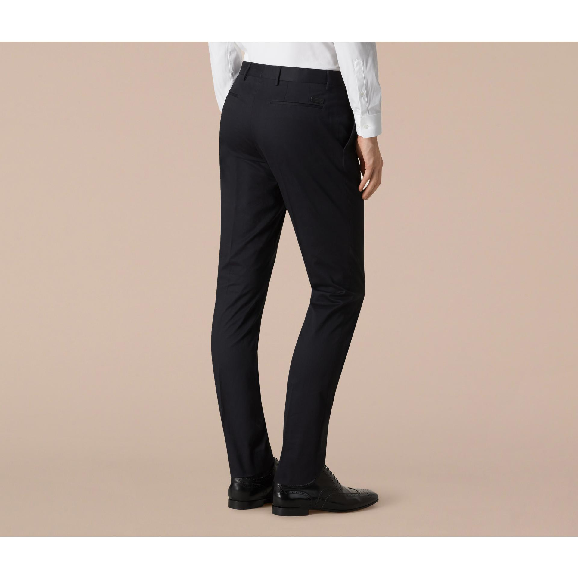 Burberry Slim Fit Check Wool Tailored Trousers in Blue for ...