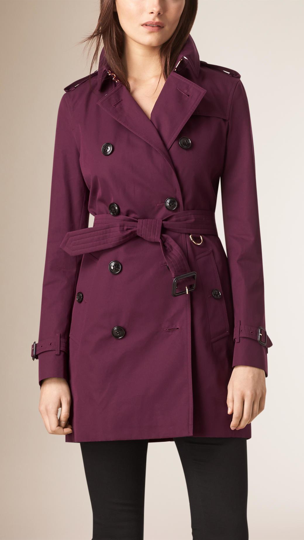 Burberry Lightweight Cotton Gabardine Trench Coat in ...