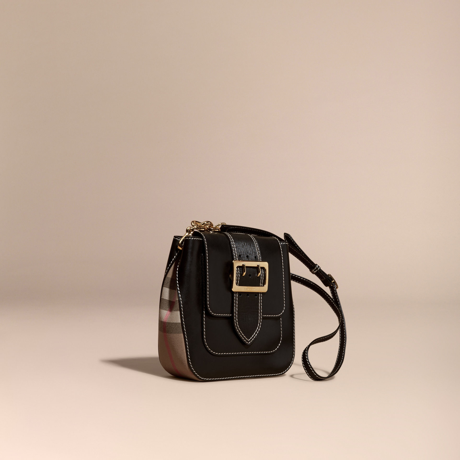 Lyst - Burberry The Medium Buckle Bag – Square In Leather And House ... e4620d992b